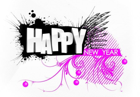 Happy New Year - abstract, holidays, background, new year