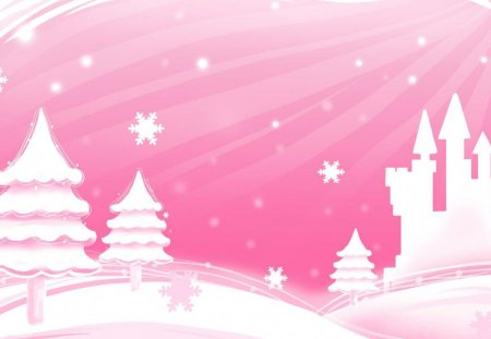 Blirk,Net,Pink,Christmas,Trees,Forist - Fantasy & Abstract ...