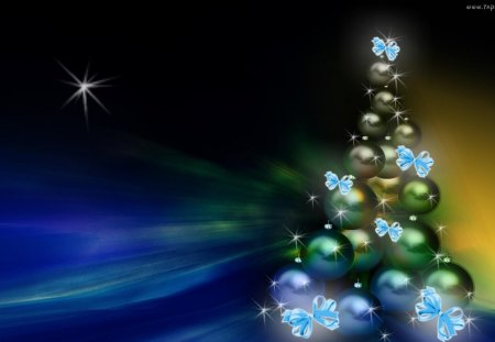 ღ Magic Christmas Tree ღ 3D And CG Abstract Background  - Magic Christmas Tree