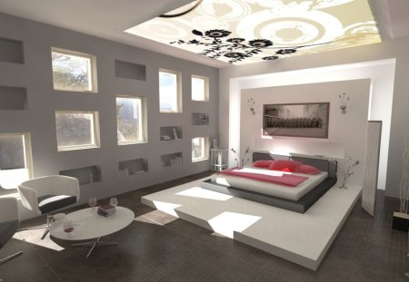 dream bedroom modern interior design windows bed interior architecture dream bedroom modern architecture background wallpapers - Dream Bedroom Designs
