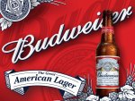 Budweiser bottle and background