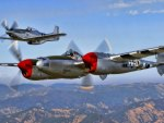 P51 and P38 classic fighters