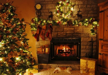 Christmas home - Other & Abstract Background Wallpapers on Desktop ...