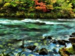 beautiful river in patagonia hdr