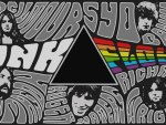 Pink Floyd Collage: Syd Barret, Roger Waters, David Gilmour, Steve Right & drummer Nick Mason.