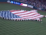 Flag July 4th, Comerica Park Detroit Mi