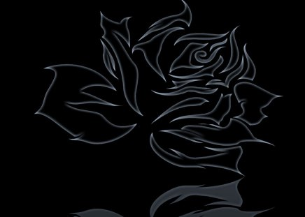 black rose - rose, abstract, logo, black