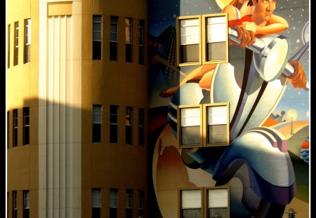 Art deco mural photography abstract background for Art deco wallpaper mural