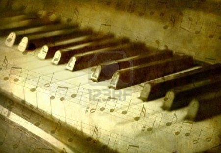 Piano with notes - Music & Entertainment Background Wallpapers on ...
