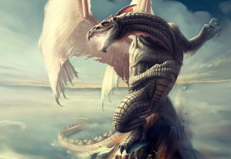 Dragon Spire - fantasy art, tlockwood, dragon