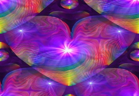 rainbow heart other amp abstract background wallpapers on
