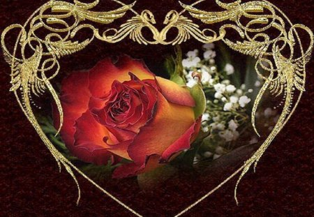 valentine heart flowers amp nature background wallpapers