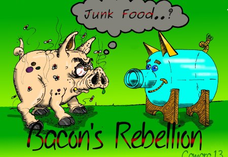 junk food - rebellion, bacon, jrc, junk, food, camara