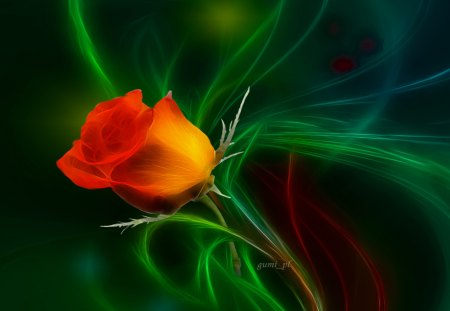 �love single rose� 3d and cg amp abstract background