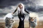 Woman and Tigers
