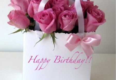 ♥ - wishes, birthday, roses, of roses, bouquet