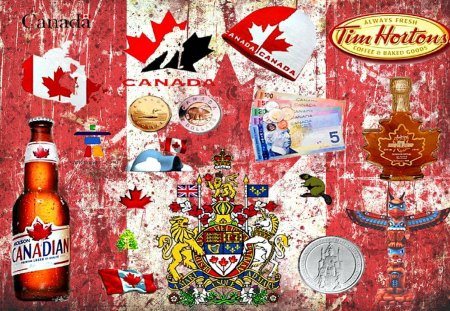 I AM CANADIAN - Collages & Abstract Background Wallpapers ...