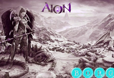 Fantasy Warrior Angel - aion, fantasy, angel, games