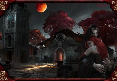 Vampire Love - Fantasy & Abstract Background Wallpapers on ... Vampire Love Wallpaper