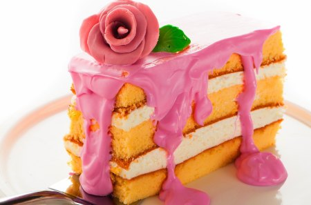 *** Sweet cake...*** - rose, cream, food, dessert