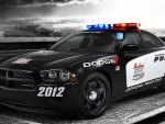 Dodge police racing car
