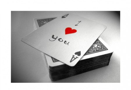 I love you! - smart, cute, abstract, ace, cards, nice, deck, 3d, love, i love you