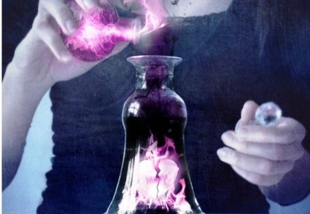 potion of love  - bottle, potion, pink, chemistry, love