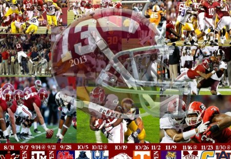 2013 Alabama Football Schedule - Helmet, Crimson Tide, Alabama, Football, Schedule