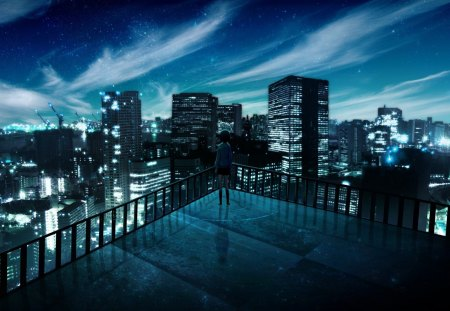 anime city night wwwpixsharkcom images galleries