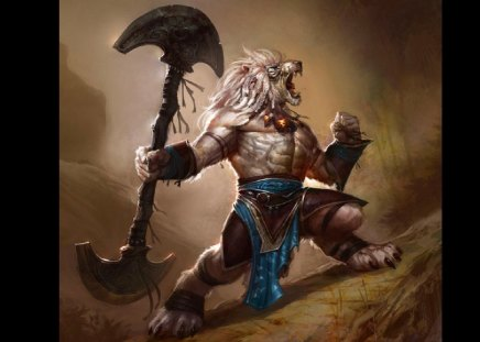 Lion Warrior - Fantasy & Abstract Background Wallpapers on ...
