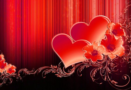 valentine hearts  other  abstract background wallpapers on, Beautiful flower