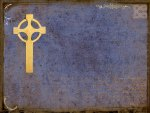 Celtic cross over grungy background