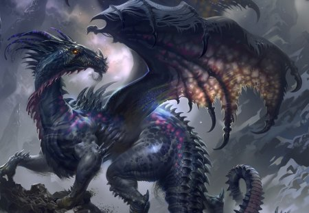 MYSTICAL DRAGON - REPITLE, DRAGON, WINGS, MYSTICAL
