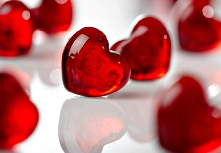 Red Hearts Other Abstract Background Wallpapers On Desktop