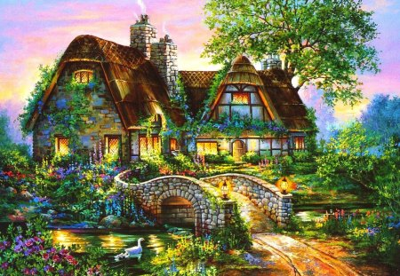 lovely cottage fantasy arts wallpapers and images