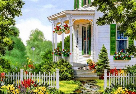 Countryside house other abstract background wallpapers for Wallpaper home sweet home