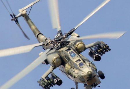 fighter helicopter - fighter, gun, helicopter, war