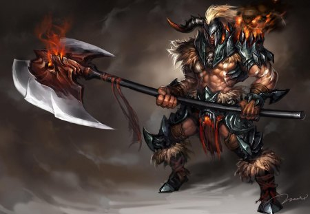 Axe Raider - Fantasy & Abstract Background Wallpapers on ...