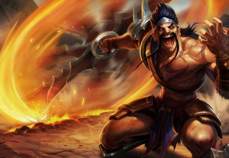 Gladiator Draven - league of legends, fire, draven, gladiator