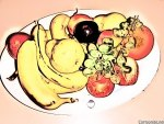 Cartoon fruit platter