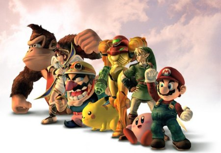 SUPER SMASH BROS - game, single player, multiplayer