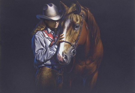 Cowgirls and horses wallpaper - photo#26