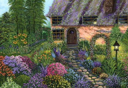 Beautiful Garden House Other Nature Background