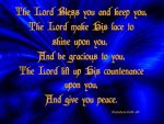 The Lord Bless You & Keep You (Blue)