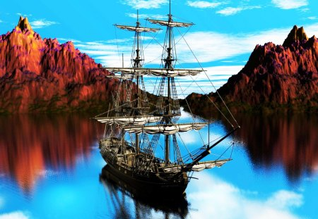 The Old Pirate Ship - old, ship, boat, pirate