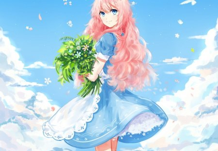 Clear sky other anime background wallpapers on desktop - Beautiful girl anime wallpaper ...