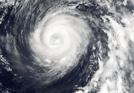 Typhoon From Space - space, swirl, typhoon, satellite, white