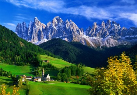 Mountain houses mountains nature background wallpapers on desktop nexus image 1407022 - Summer houses mountains ...