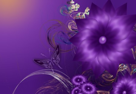 Lovely Purple Day Cool Flowers Wings Spring Beautiful
