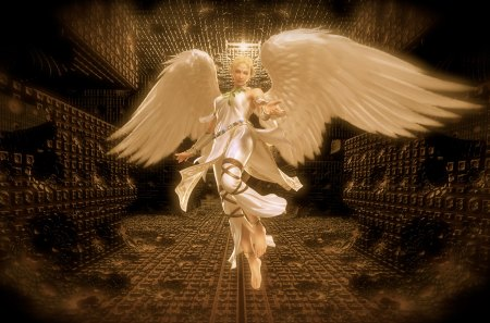 White Angel Guardian - Fantasy & Abstract Background ...